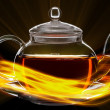 Glass teapot — Stockfoto
