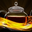 Glass teapot — Stockfoto #35428721