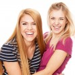 Two female friends having fun — Stock Photo