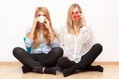 Two female friends having fun — Stock Photo