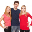 Stock Photo: Three young people on white background