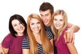 Cheerful young group — Stock Photo