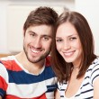 Young couple at home — Stock Photo #39715085