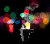 Black coffee cup — Stock Photo