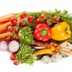 Fresh vegetables on white background — Stock Photo