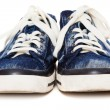 Blue sneakers on white background — Stock Photo #40954219