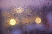 Waterdrops on a window — Stock Photo