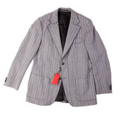 New men's jacket with a label — Stock Photo