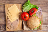 Hamburger ingredients — Stock Photo