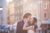 Young couple at their wedding — Stock Photo