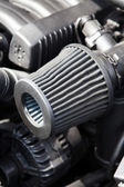Supercharged car engine — Stock Photo