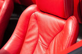 Leather upholstery of a car seat — Stock Photo