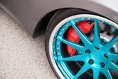 Sport car light alloy wheels — Stock Photo