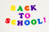 Back to school text — Stock Photo