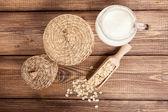Barley flakes closeup photo — Stock Photo