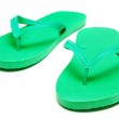 Green flip-flops isolated on white background — Stock Photo #50122445