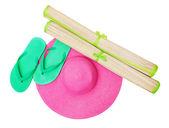 Beach accessories - summer travel — Stock Photo