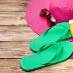 Beach accessories - summer travel — Stock Photo #50290797