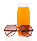 Sunscreen bottle — Stock Photo