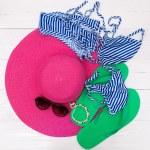 Beach accessories - summer travel — Stock Photo #50447145