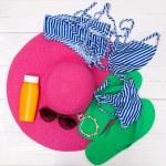 Beach accessories - summer travel — Stock Photo #50447211