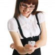 Young woman with a mobile phone — Stock Photo #5729970