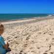 Child on a beach — Stock Photo