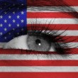 Eye with flag — Foto Stock
