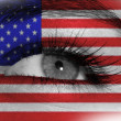 Eye with flag — Foto de Stock