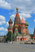 St. Basil's Cathedral at the Red Square of Moscow — Stock Photo