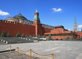 Red Square, Lenin mausoleum and Moscow Kremlin — Stock Photo