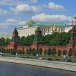 Moscow Kremlin over the river - Stock Photo
