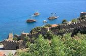 Alanya fortress wall, Turkey — Stock Photo