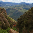 View from Montserrat mountain near Barcelona — Stock Photo #33694705