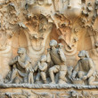 Statues of La Sagrada Familia on May 12, 2013 in Barcelona, Spain — Stock Photo #33695515