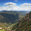 View from Montserrat mountain near Barcelona — Stock Photo #33987863