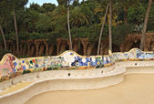 Ceramic bench at Parc Guell — Stock Photo