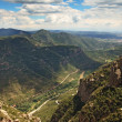 View from Montserrat  mountain near Barcelona — Stock Photo