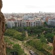 Panorama of Barcelona from sagrada familia — Stockfoto