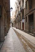 Barri gotic, barcelona, Espanha — Fotografia Stock