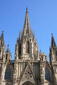 фасад собора барселоны — Стоковое фото