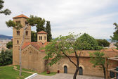 Roman church in Poble Espanyol in Barcelona — 图库照片