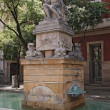 Neptune (Poseidon) fountain in Barcelona — Stock Photo