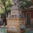Stock Photo: Neptune (Poseidon) fountain in Barcelona
