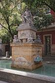 Neptune (Poseidon) fountain in Barcelona — Stock Photo