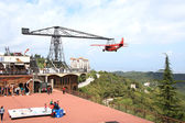 Aircraft in the amusement park on the Tibidabo in Barcelona — Stock Photo