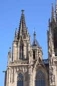 Barcelona cathedral facade details — Stock Photo