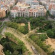 Panorama of Barcelona from sagrada familia — Stock Photo