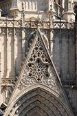 Detalhes de fachada catedral de barcelona — Fotografia Stock
