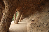 Colonnade in Gaudi's Parc Guell — Stock Photo